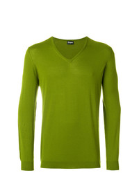 Jersey de pico en amarillo verdoso de Drumohr