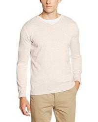 Jersey de pico en beige de Tom Tailor
