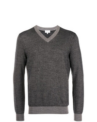 Jersey de pico en gris oscuro de Brioni