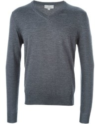 Jersey de pico en gris oscuro de Canali
