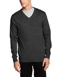 Jersey de pico en gris oscuro de Crew Clothing