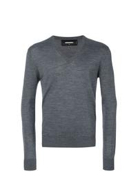 Jersey de pico en gris oscuro de DSQUARED2