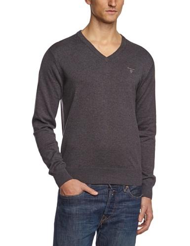 Jersey de pico en gris oscuro de Gant
