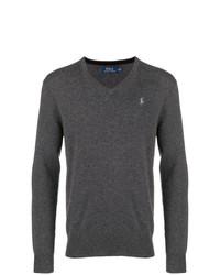 Jersey de pico en gris oscuro de Polo Ralph Lauren