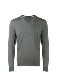 Jersey de pico en gris oscuro de Z Zegna