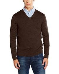 Jersey de pico en marrón oscuro de Calvin Klein