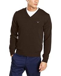 Jersey de pico en marrón oscuro de Gant