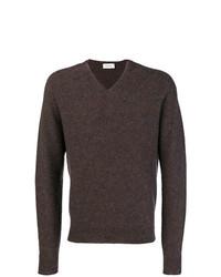 Jersey de pico en marrón oscuro de Lemaire