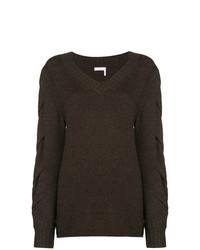 Jersey de pico en marrón oscuro de See by Chloe