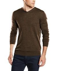 Jersey de pico en marrón oscuro de Selected Homme