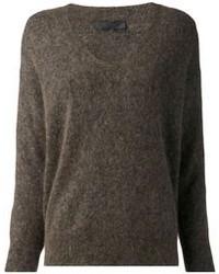 Jersey de pico en marrón oscuro de The Row