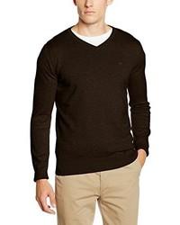 Jersey de pico en marrón oscuro de Tom Tailor
