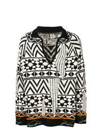 Jersey de pico en negro y blanco