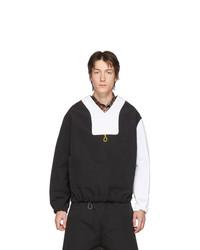 Jersey de pico en negro y blanco de Boramy Viguier