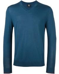 Jersey de pico en verde azulado