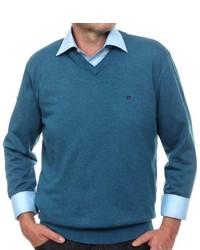Jersey de pico en verde azulado de Casamoda