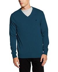 Jersey de pico en verde azulado de Crew Clothing