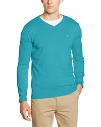 Jersey de pico en verde azulado de Tom Tailor