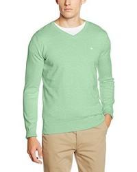 Jersey de pico en verde menta de Tom Tailor