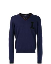 Jersey de pico en violeta de Lanvin