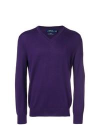 Jersey de pico en violeta de Polo Ralph Lauren