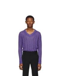 Jersey de pico en violeta de Prada
