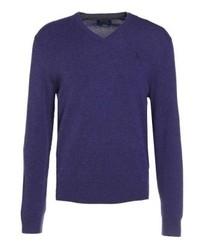 Jersey de pico en violeta de Ralph Lauren