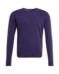 Jersey de pico en violeta de Tom Tailor