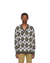 Jersey de pico estampado en multicolor de Gucci