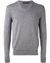 Jersey de pico gris de Alexander McQueen