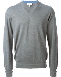 Jersey de pico gris de Brioni
