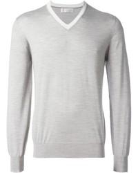 Jersey de pico gris de Brunello Cucinelli