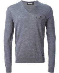 Jersey de pico gris de DSQUARED2