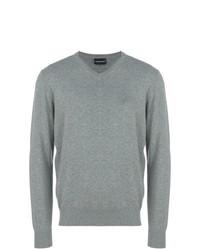 Jersey de pico gris de Emporio Armani