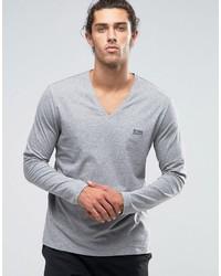 Jersey de pico gris de Hugo Boss