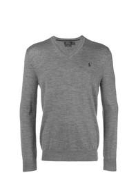 Jersey de pico gris de Polo Ralph Lauren
