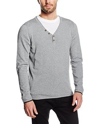 Jersey de pico gris de Tom Tailor Denim