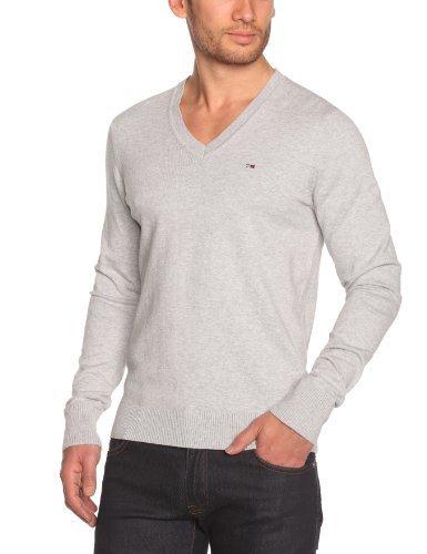 Jersey de pico gris de Tommy Hilfiger