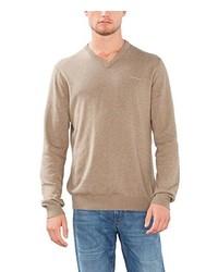 Jersey de pico marrón claro de Esprit
