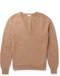 Jersey de pico marrón claro de Saint Laurent