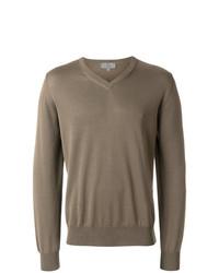 Jersey de pico marrón de Canali