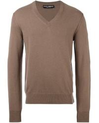 Jersey de pico marrón de Dolce & Gabbana