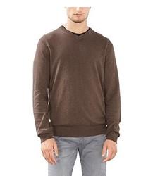 Jersey de pico marrón de Esprit