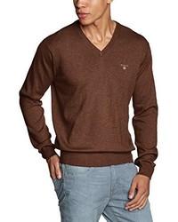 Jersey de pico marrón de Gant