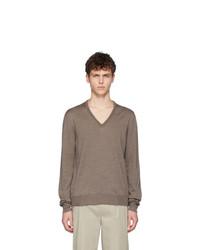 Jersey de pico marrón de Maison Margiela