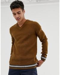 Jersey de pico marrón de New Look