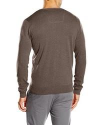 Jersey de pico marrón de Tom Tailor