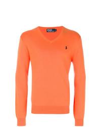 Jersey de pico naranja de Polo Ralph Lauren