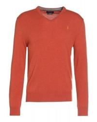 Jersey de pico naranja de Ralph Lauren