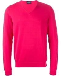 Jersey de pico rosa de Drumohr